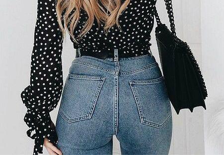 jeansy wysoki
