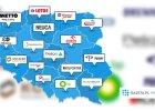 W Lubuskiem rządzi Cinkciarz.pl, a w Małopolsce? Będziecie zaskoczeni. Oto największe firmy w każdym z województw
