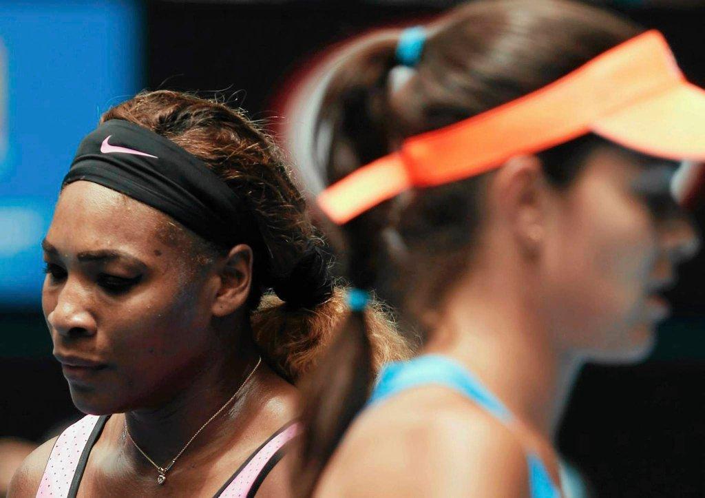 Serena Williams w meczu z Aną Ivanović
