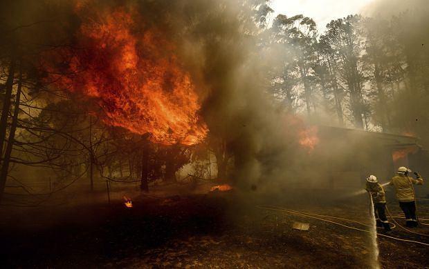 Pożary w Australii - okolice miejscowości Bundanoon w Nowej Południowej Walii