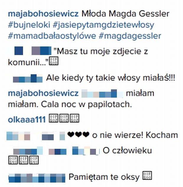 Komentarze na profilu Mai Bohosiewicz