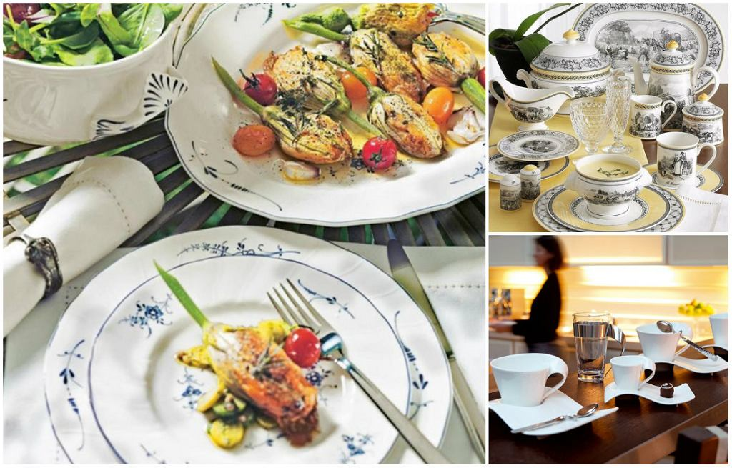 Porcelanowe naczynia i sztućce marki Villeroy&Boch
