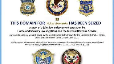 Zablokowana domena KickassTorrents