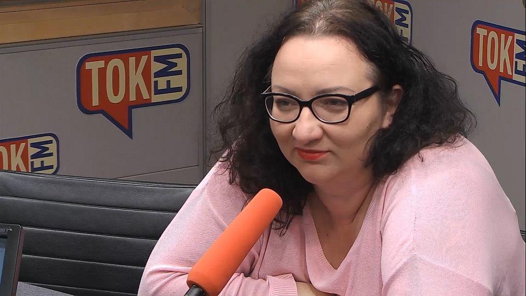 Marta Lempart w studiu TOK FM.