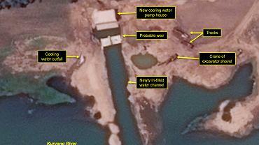 Rozbudowa eksperymentalnego ośrodka nuklearnego w Jongbjon w Korei Północnej, zdj. satelitarne