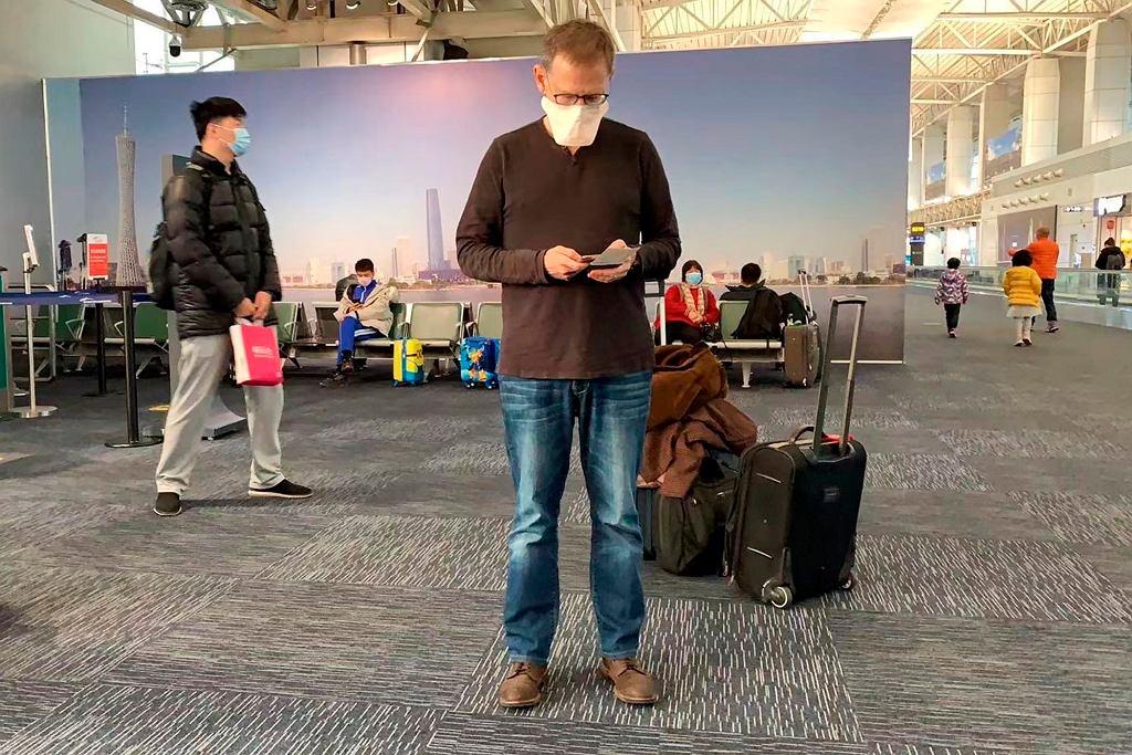 Epidemia koronawirusa - lotnisko we Guangzhou w Chinach