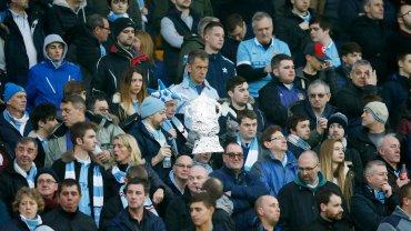 Kibice Manchesteru City podczas meczu z Norwich (3:0)