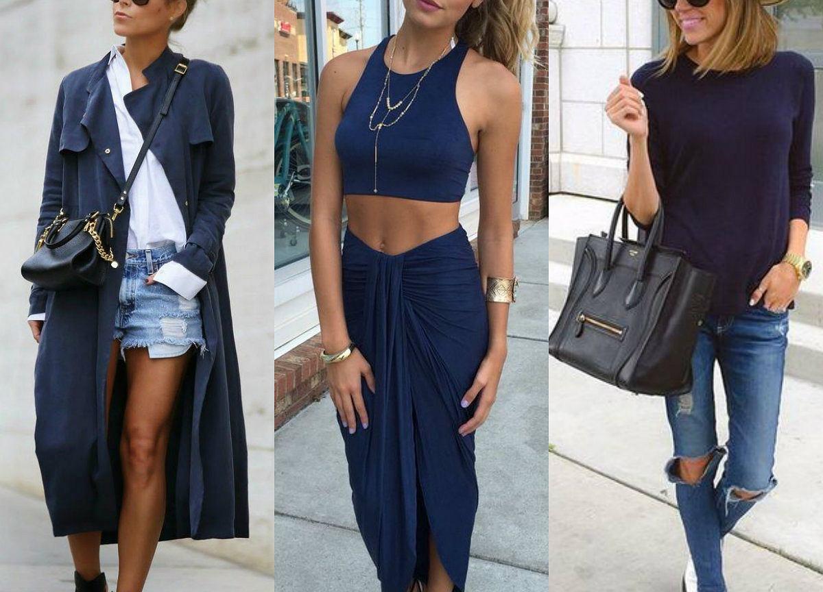 c103e6d8 Granatowe ubrania - trzy gotowe stylizacje, którymi się zainspirujecie