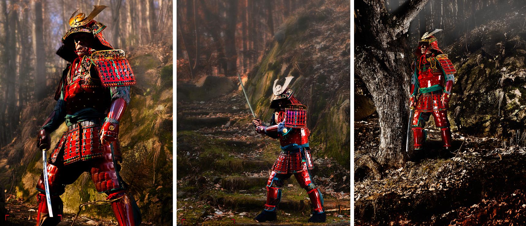 Czesław Zabiegło od 25 lat wykonuje zbroje japońskich samurajów (fot. archiwum prywatne)