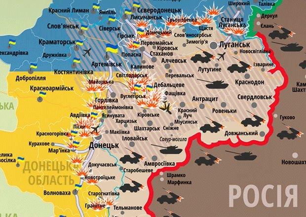 Linia frontu na wschodniej Ukrainie