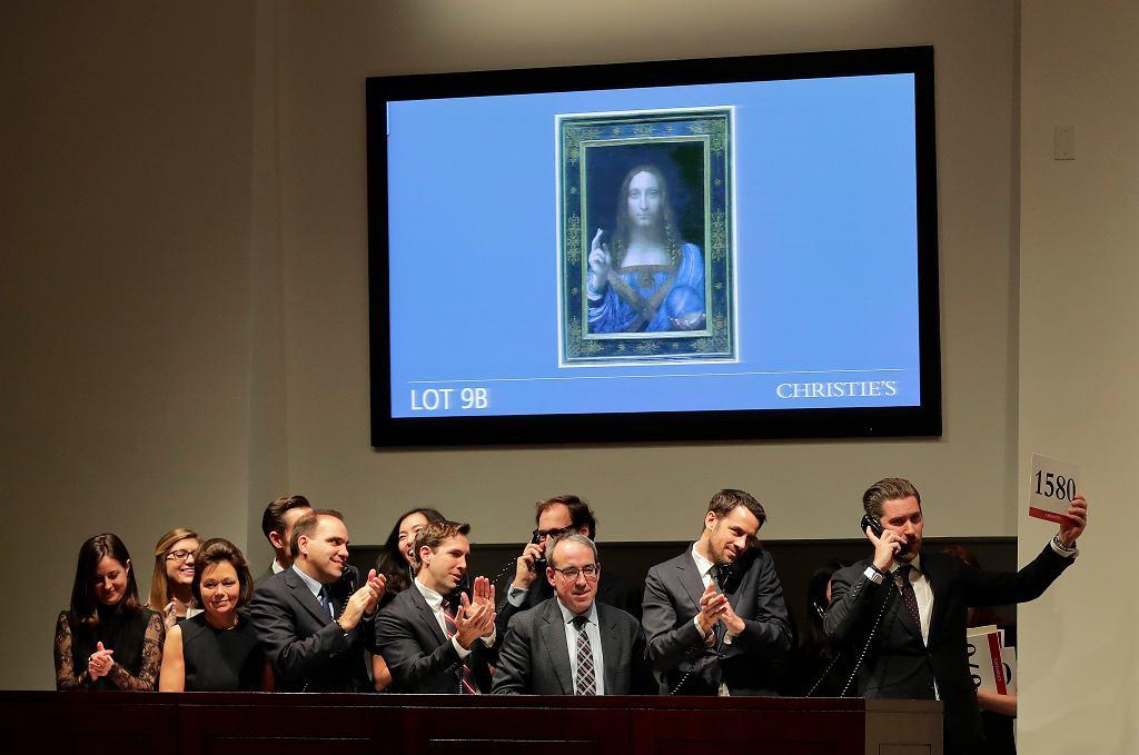 Aukcja obrazu 'Salvator Mundi' Leonarda da Vinci