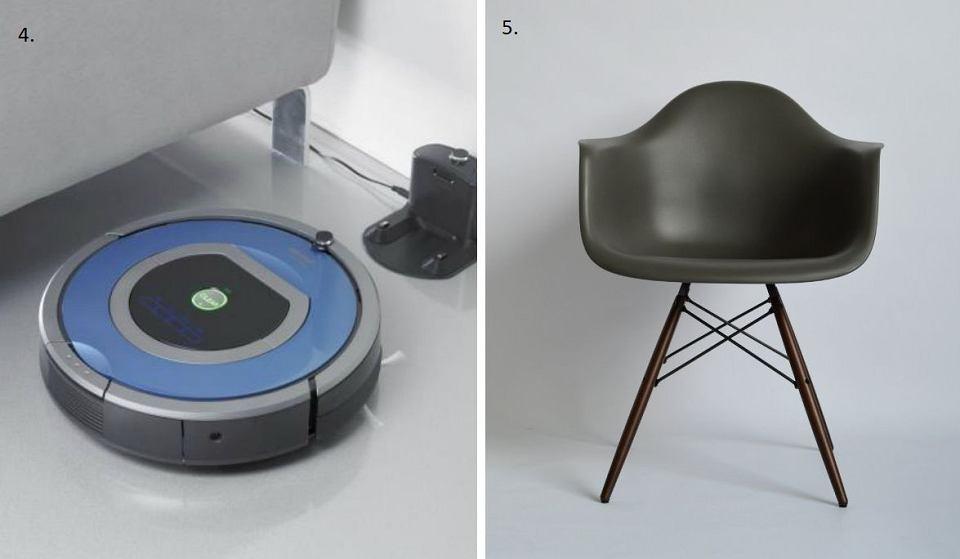 iRobot Roomba i krzesło DAW Vitra