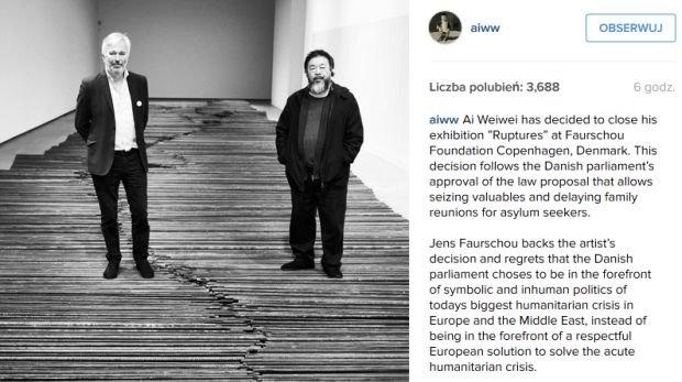 Ai Weiwei zdecydował o zamknięciu wystawy w Kopenhadze