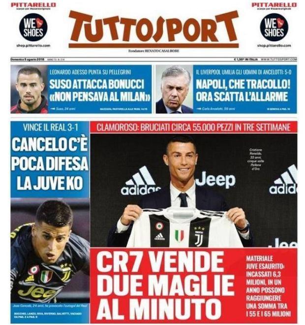 Juventus sprzedał 55 tysięcy koszulek