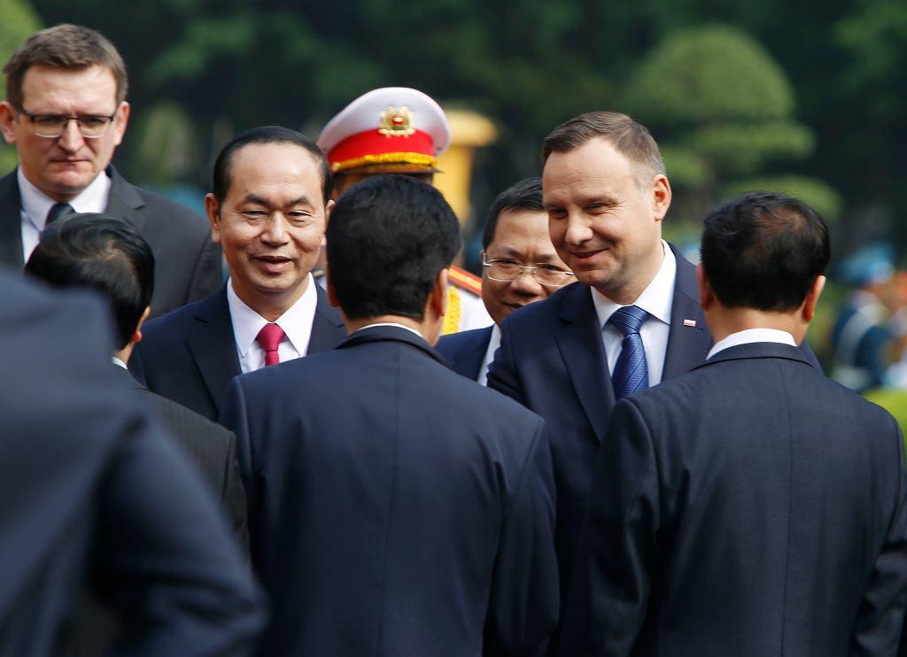 Prezydent Andrzej Duda podczas wizyty w Wietnamie