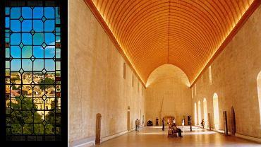 Awinion - Pałac Papieski w środku (po prawej) i widok z okna