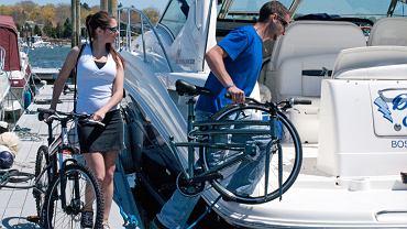 z rowerem na jacht