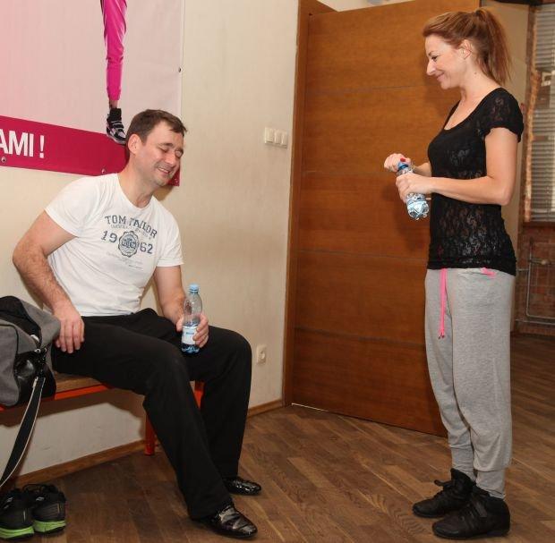 Treningi do Ta?ca z Gwiazdami, JAcek Rozenek i Magdalena Soszynska, 02.2014, fot. WBF