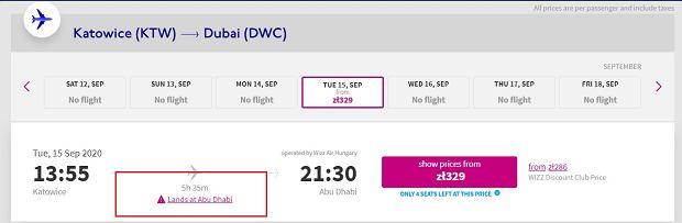 Lot do Dubaju z Katowic
