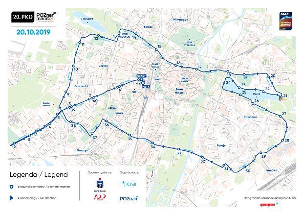 PKO Maraton trasa