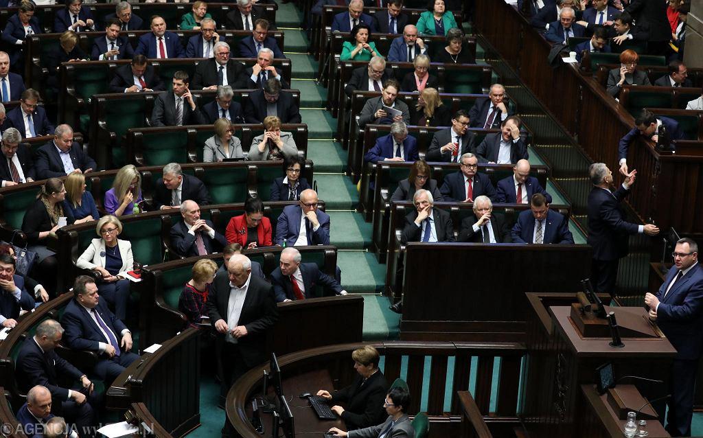 11.01.2018, posiedzenie Sejmu, głosowanie ustawy budżetowej.