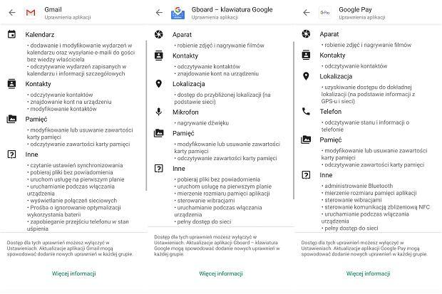 Jakie i-uprawnienia mają popularne aplikacje na Androida?