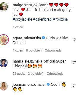 Komentarze na Instagramie Ostrowskiej-Królikowskiej