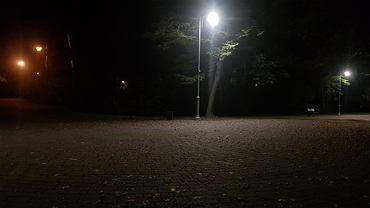 Nowe oświetlenie w katowickim parku Kościuszki