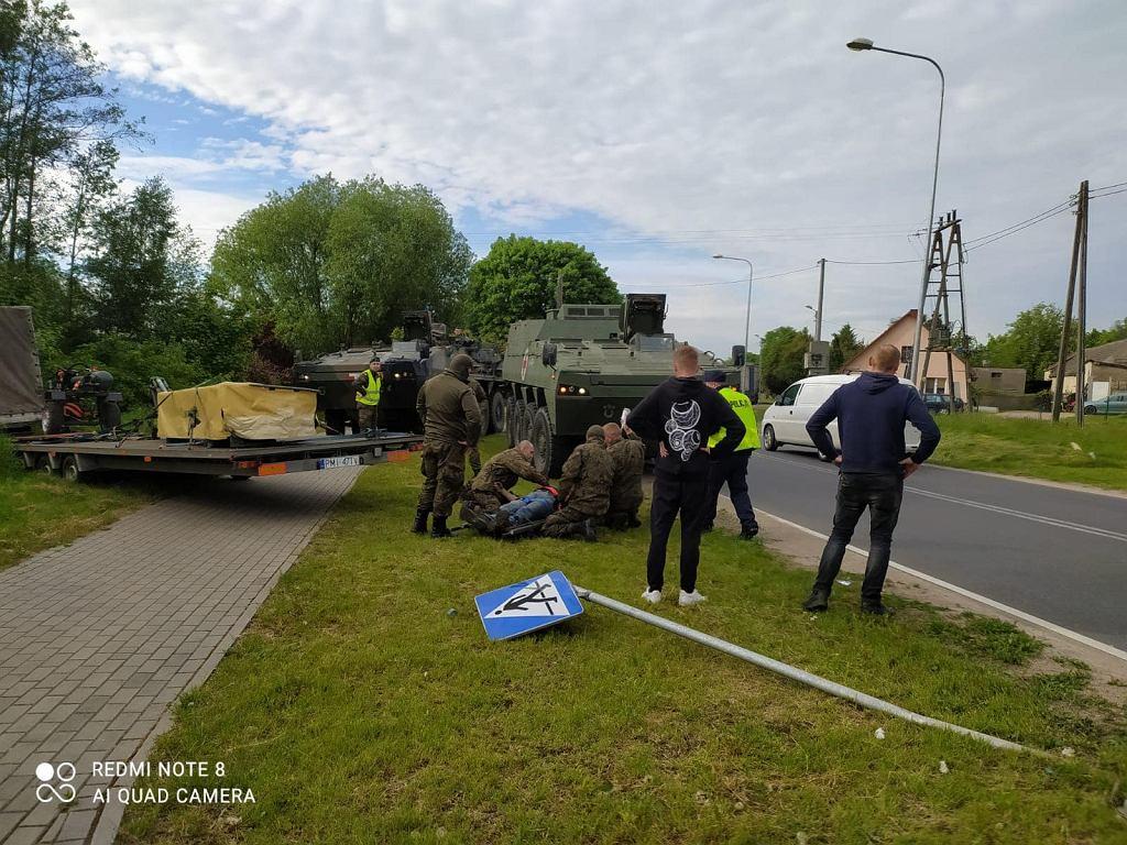 Kolumna 12 Brygady Zmechanizowanej uratowała życie mieszkańcowi Nowego Miasta Lubawskiego