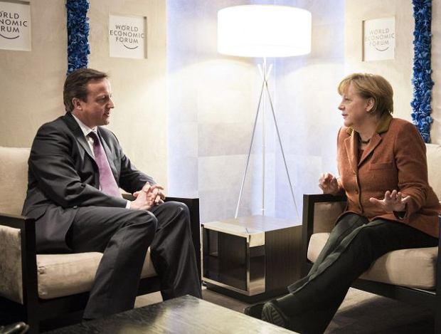 Styczeń 2013, David Cameron i Angela Merkel w Davos