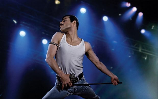 Rami Malek as the rock icon Freddie Mercury