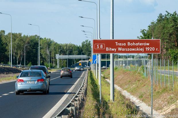 Droga S8 z nową nazwą - Trasa Bohaterów Bitwy Warszawskiej 1920 r.
