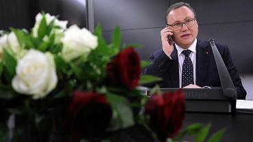 16.11.2018, Senat, posiedzenie senackiej Komisji Budżetu i Finansów. Przewodniczący komisji senator Grzegorz Bierecki.