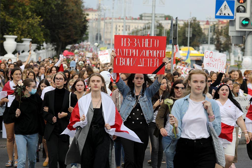 5.09.2020, Mińsk, kolejny dzień protestów przeciwko Łukaszence