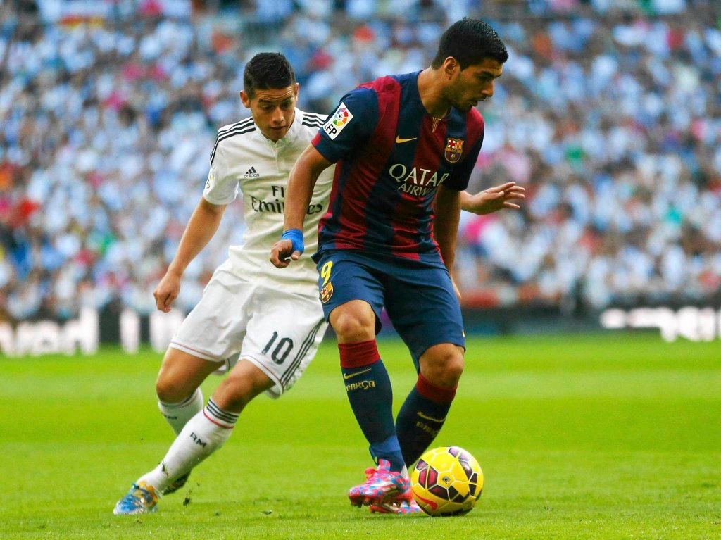 Real - Barcelona 3:1. James Rodriguez i Lionel Messi