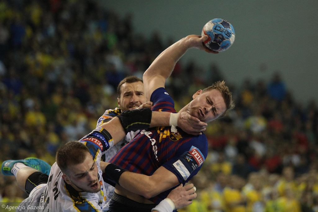Aron Palmarsson podczas meczu PGE Vive Kielce - Barca Lassa