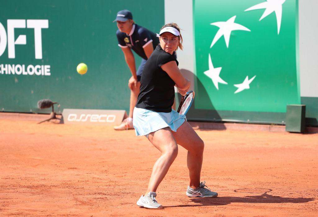 Mecz Kucovej z Gorgodze podczas turnieju WTA w Gdyni