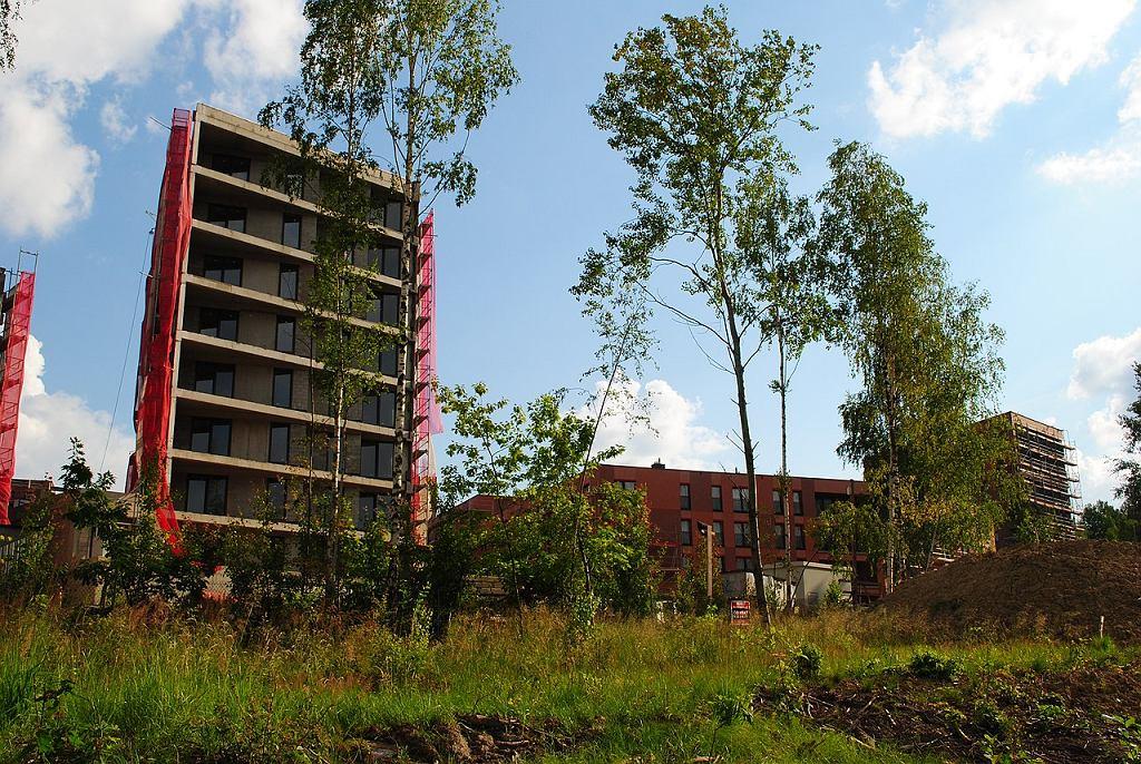 Osiedle Nowy Nikiszowiec w trakcie budowy w lipcu 2020 roku