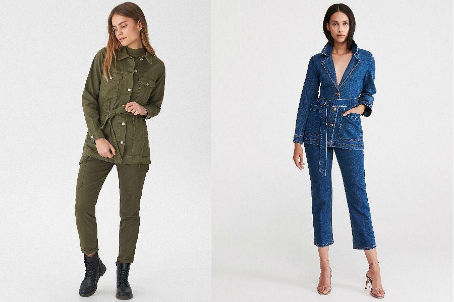 Katana jeansowa długa
