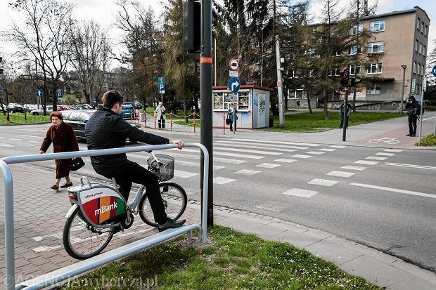 krakowska podpórka dla rowerzystów