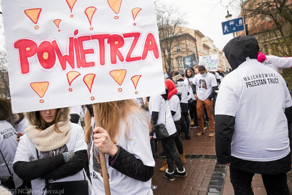 Marsz antysmogowy w Krakowie