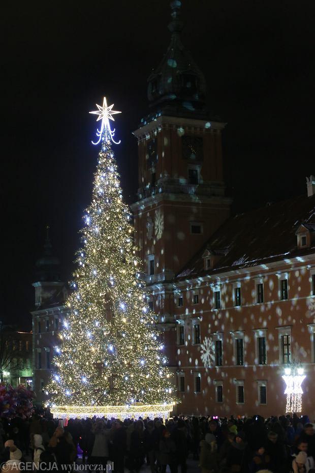 Świateczna iluminacja w Warszawie