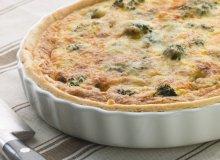 Serowy quiche z brokułami - ugotuj