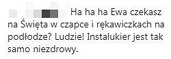 Komentarz na profilu Ewy Chodakowskiej