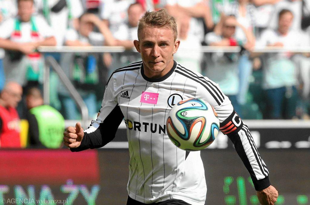 Jakub Rzeźniczak podczas meczu Legia - Wisła 1:0
