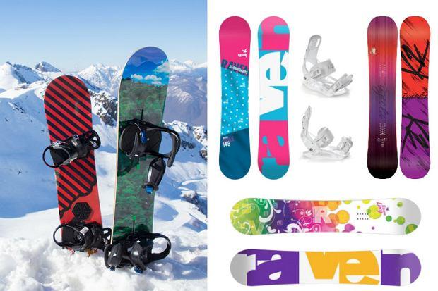 Kolaż / Deska snowboardowa / Materiały partnerów