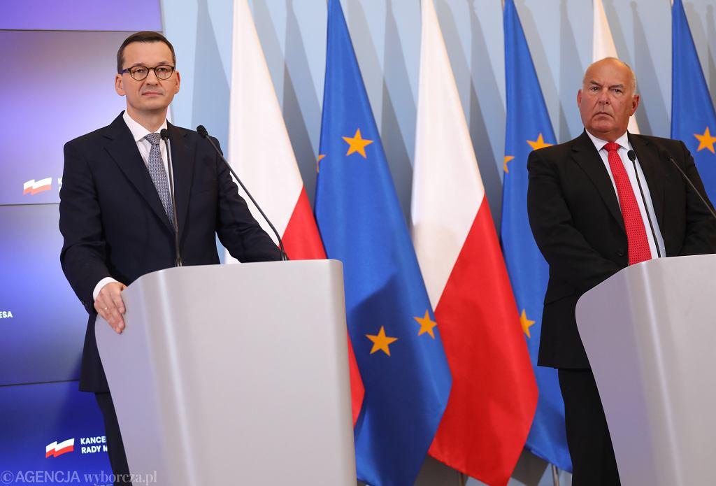 Premier Mateusz Morawiecki i minister finansów Tadeusz Kościński.