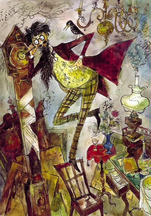 Jan Marcin Szancer, ilustracja do 'Akademii Pana Kleksa' Jana Brzechwy