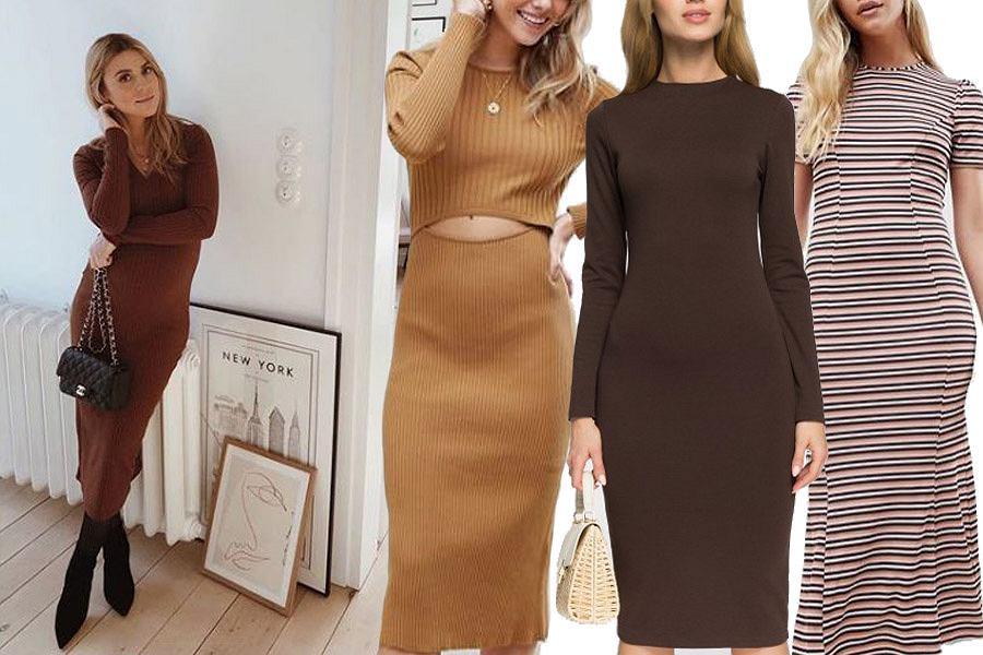 dopasowane sukienki midi / mat. partnera