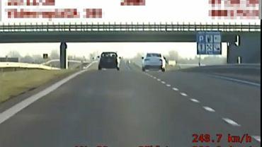 Dwa promile, narkotyki i 250 km/h po autostradzie A4